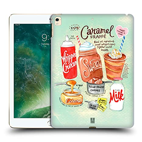 Head Case Designs Caramel Frappe Illustrated Recipes Hard Back Case for Apple iPad Pro 12.9  2016/17