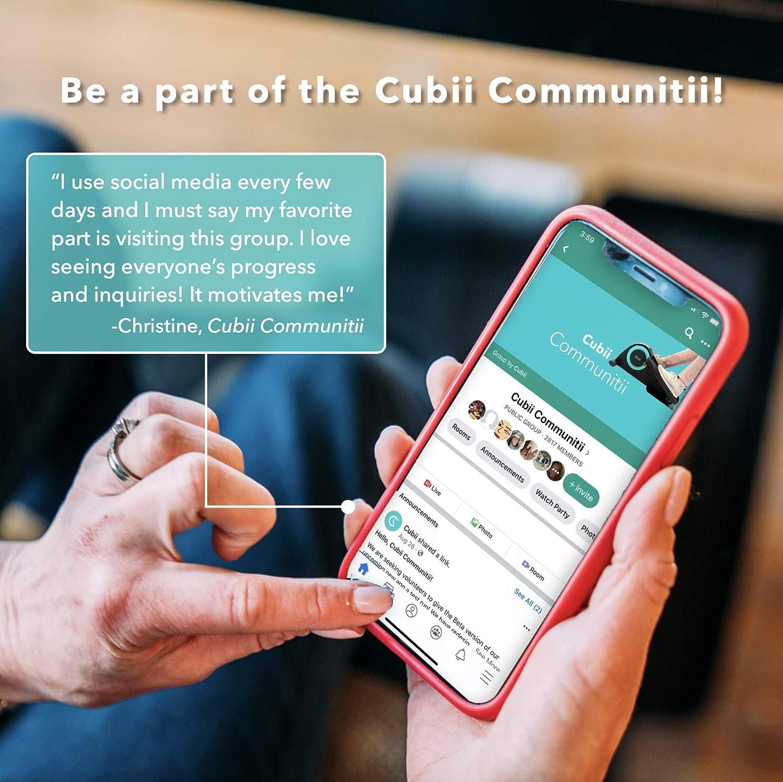 Cubii Pro Under Desk Elliptical Machine for Home Workout with communication app