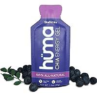 Huma Chia Energy Gel, Blueberries, 12 Gels - Premier Sports Nutrition for Endurance Exercise