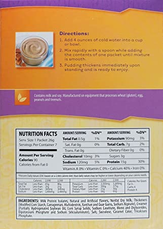 Amazon.com: NutriWise - Dulce De Leche Diet Protein Pudding (7/Box): Health & Personal Care