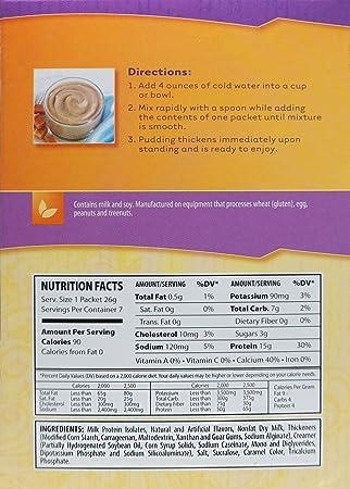 Amazon.com: NutriWise - Dulce De Leche Diet Protein Pudding (7/Box): Health & Personal Care