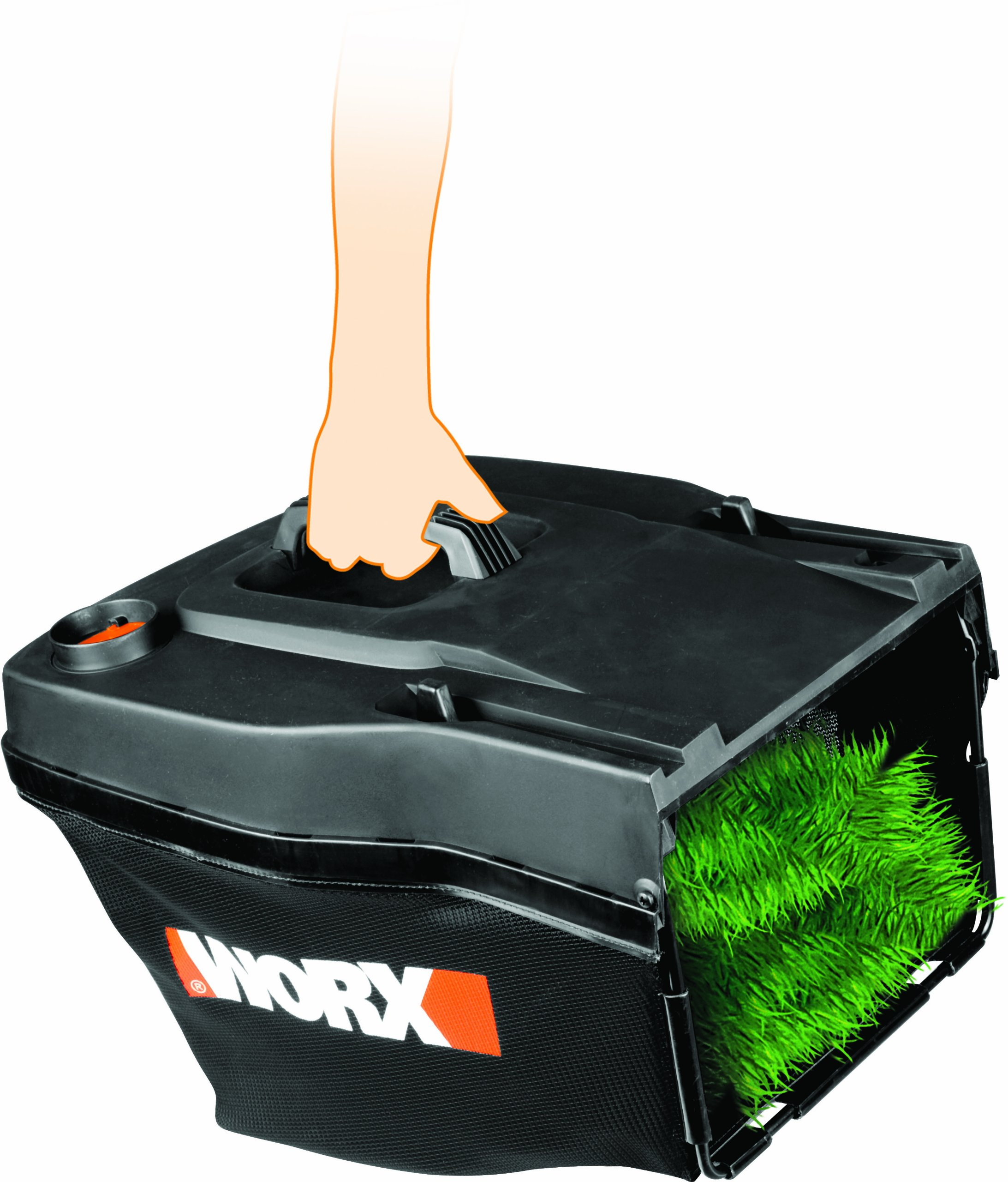 WORX 50021832 Replacement Grass Catcher Assembly for WG775, WG782, WG783 Electric Lawn Mowers