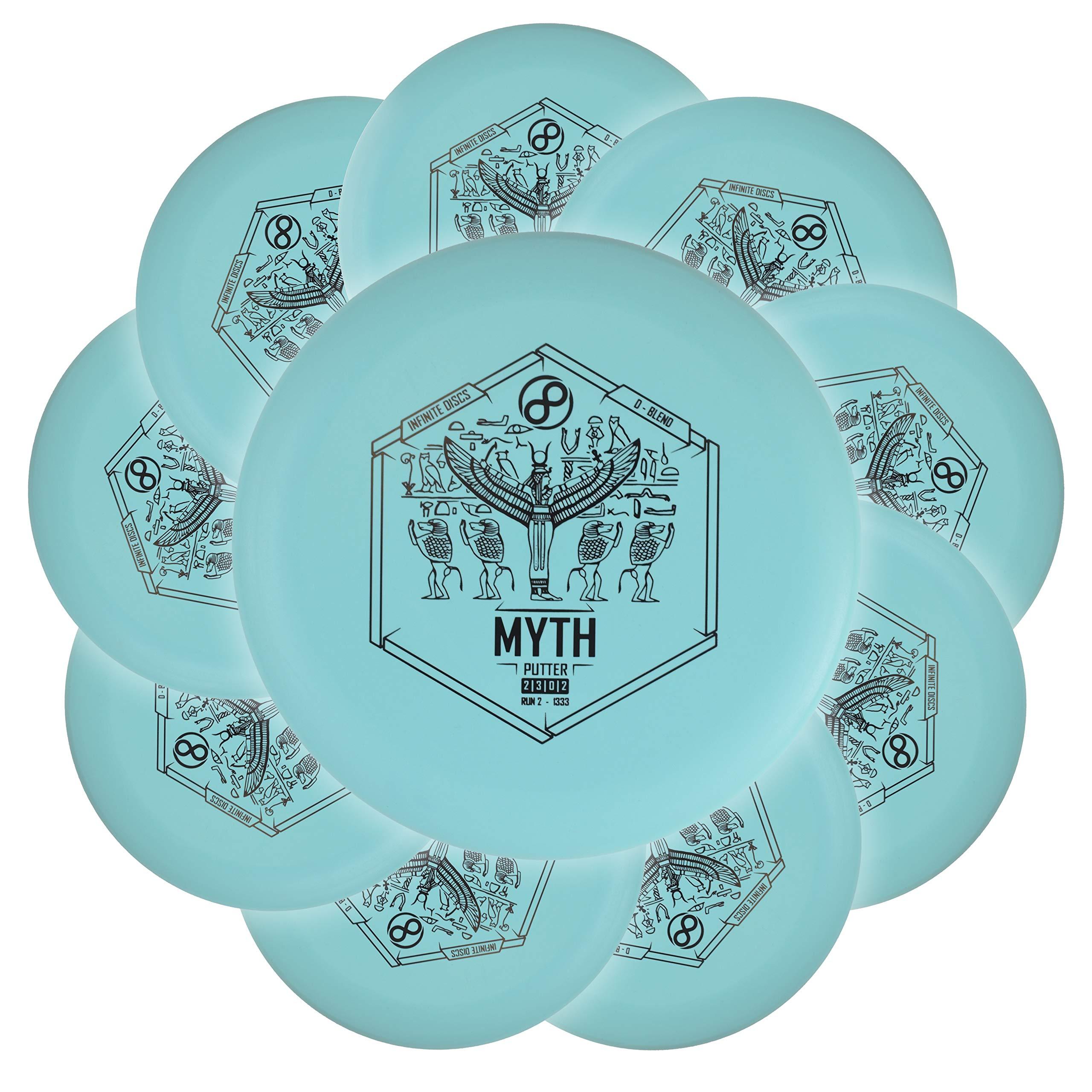 Infinite Discs Disc Golf Practice Putter Bulk 10-Pack D-Blend Myth by Infinite Discs