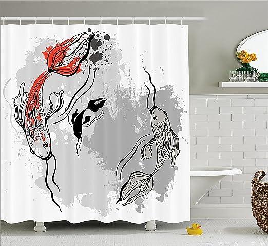japonais Décor Rideau de douche esthétique Digital Motley ...
