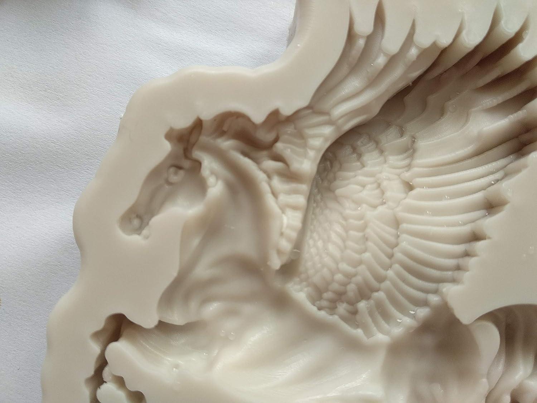3D Pegasus Fondant Cake Decor Soft Silicone Moulds Baking Tools DIY Chocolate Sugar Craft Fondant Cake Bakeware Cookie Biscuits