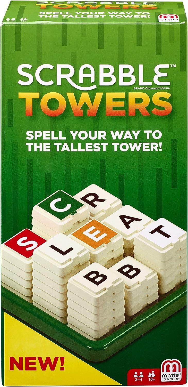 Mattel Games- Juego de Torres de Scrabble, Multicolor (FMW20): Amazon.es: Juguetes y juegos