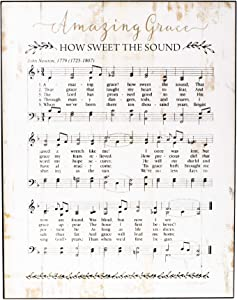 Dicksons Amazing Grace Music Sheet 11 x 14 Wood Decorative Wall Plaque
