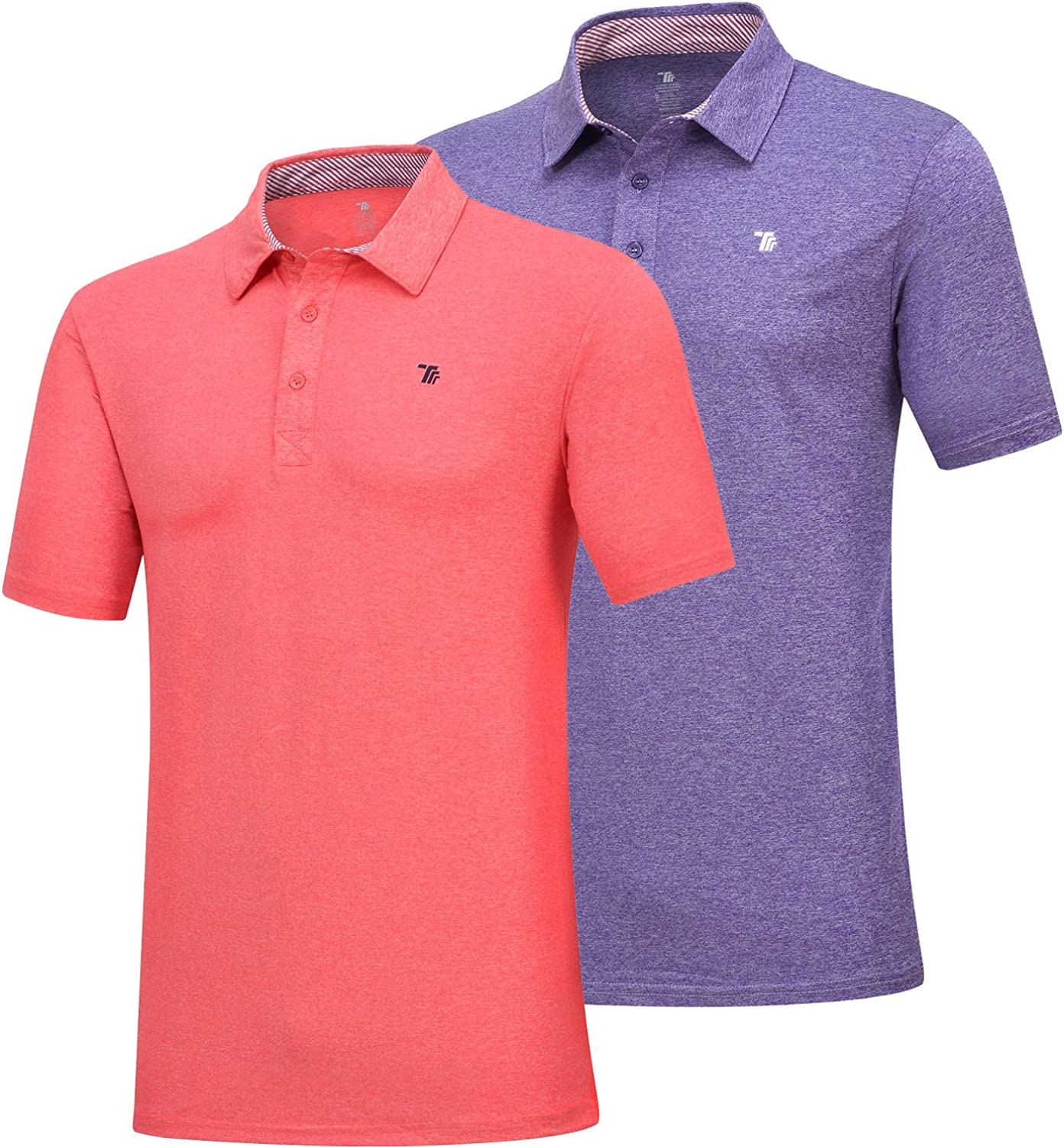JINSHI Men's Athletic Shirts Sports Polo T-Shirts Short Sleeve Classic Golf Polo Shirt: Clothing