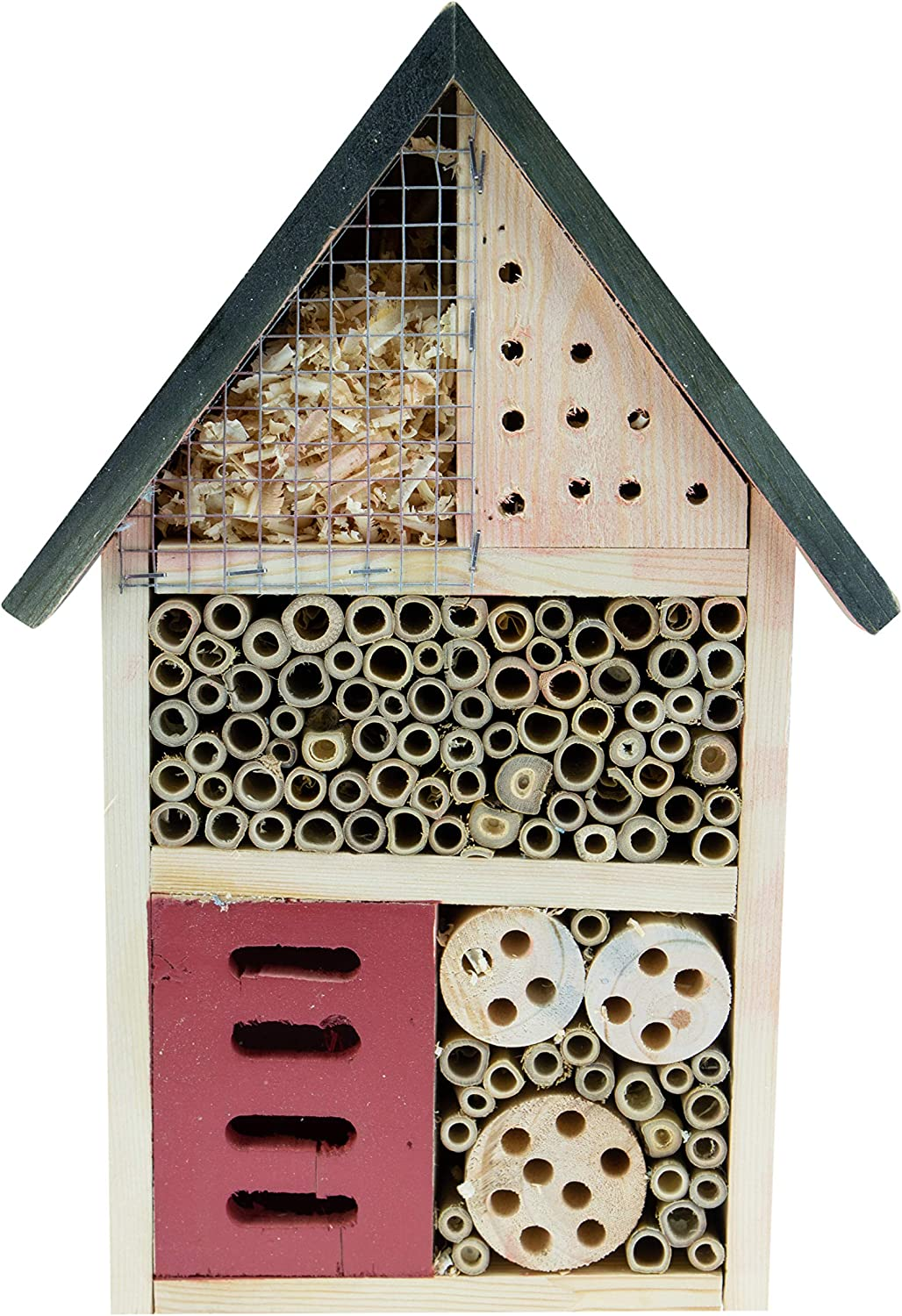 Clever Garden | Wooden Insect Hotel 24x9x36 cm| Great for All Types of Outside Insects