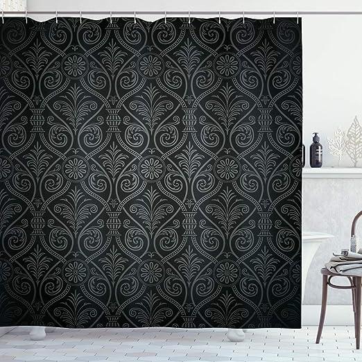 Venice Pattern Shower Curtain Fabric Decor Set with Hooks 4 Sizes