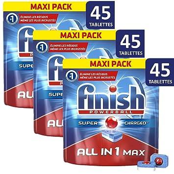 Finish Powerball Todo en 1 Doypack lavavajillas 45 Pastilles ...