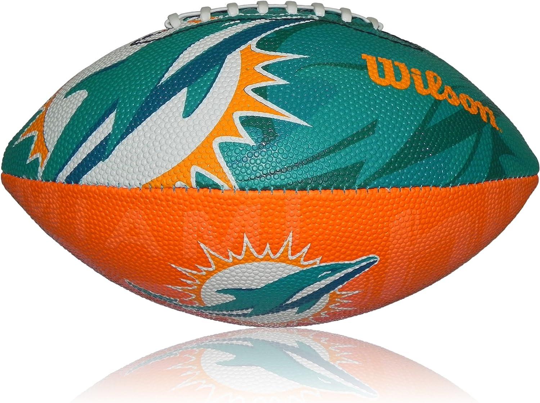 Wilson Football NFL Junior Miami Dolphins Logo - Balón de fútbol ...