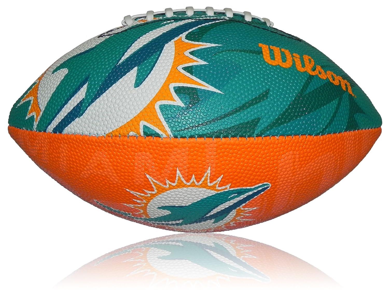 Wilson Football NFL Junior des Miami Dolphins Logo, multicolore, 5, wl0206694040