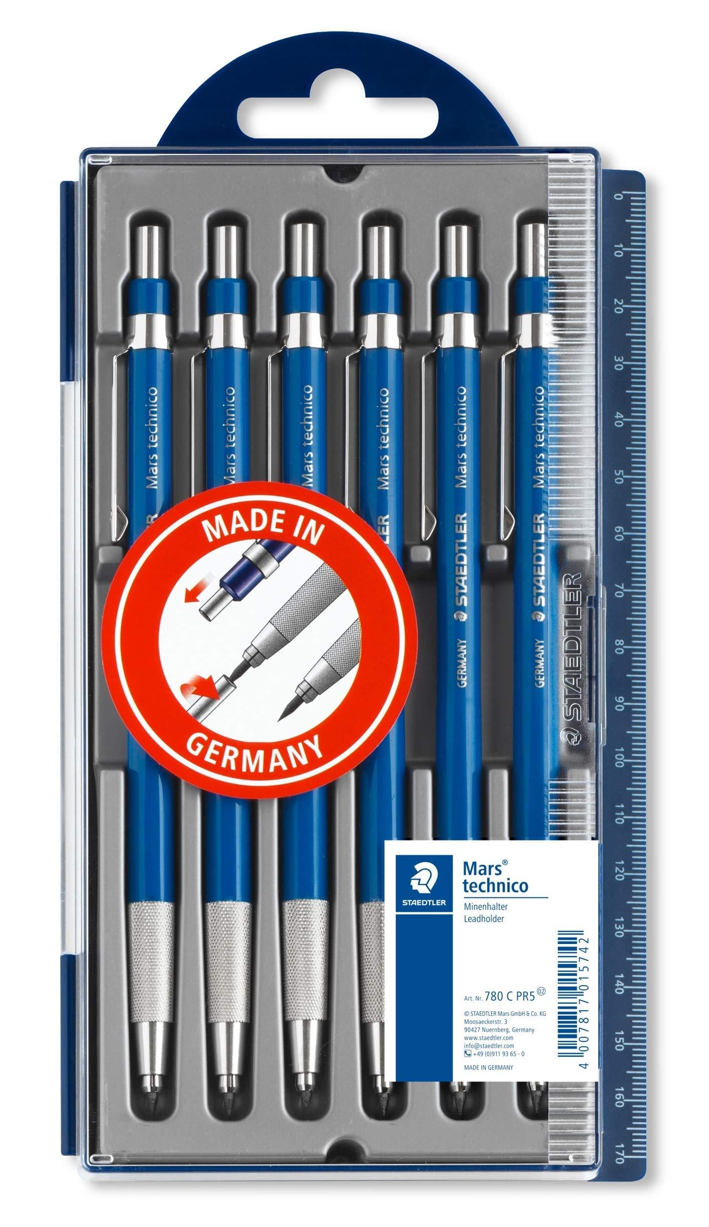 STAEDTLER Mars technico 780 C PR5 Leadholder Pencil with Sharpener 2.0 mm - 5+1 Promotion by Staedtler