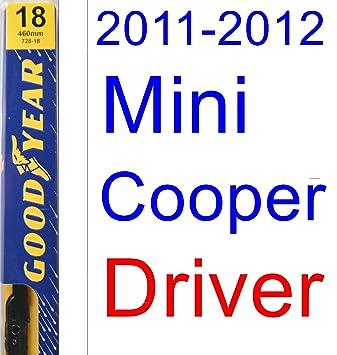 2011 - 2012 Mini Cooper S Clubman hoja de limpiaparabrisas de repuesto Set/Kit (Goodyear limpiaparabrisas blades-premium): Amazon.es: Coche y moto