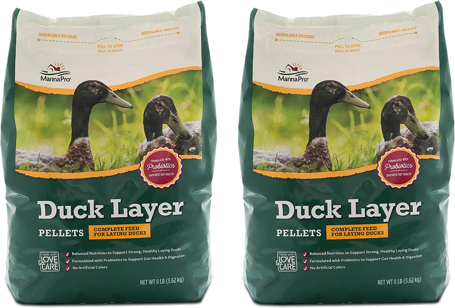 Manna Pro Duck Layer Pellets, 8 Pounds (Pack of 2)
