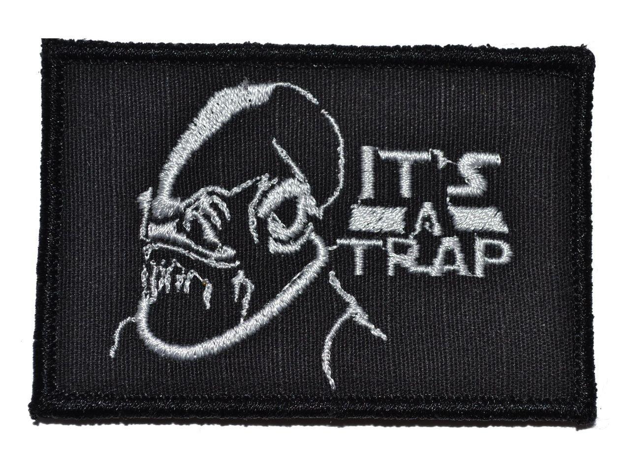 It's a Trap Admiral Ackbar 2x3 Morale Patch - Black