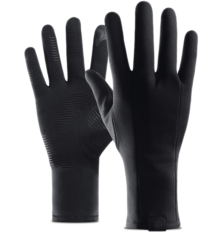 Woogwin Mens Winter Gloves Windproof Driving Gloves Touchscreen Fleece Gloves(L)