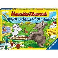 Ravensburger 21298 – kunskap, skratt och grejer – musslang och björn stark för barn, barnlek för 2–4 spelare, frys från…