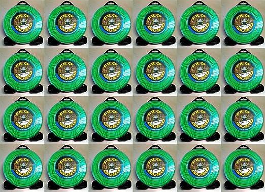 24 bobinas de hilo para desbrozadora redonda de 4 mm, 30 metros ...