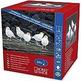 Lampada a LED in acrilico, motivo: uccelli, Set di 5, 40 A, luce bianca calda,  trasformatore esterno da 24 V, cavo trasparente 6144-203