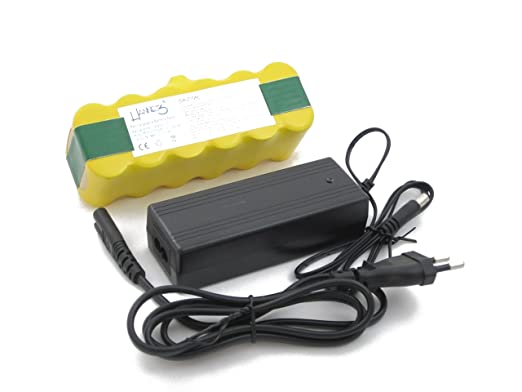 Hannets - Batería 3500 mAh y cargador para todos los iRobot ...