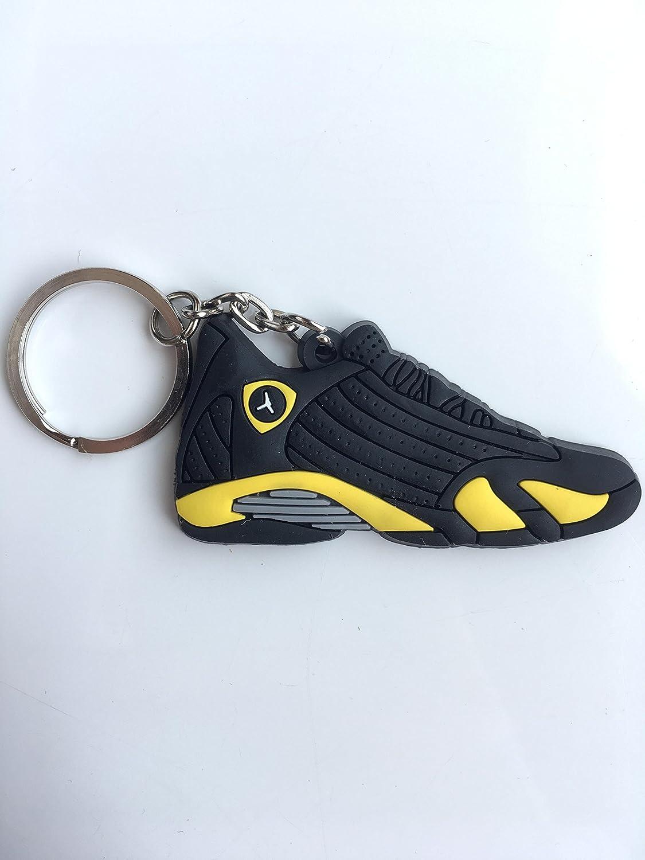 7d506f9fe7b06d Amazon.com   Jordan Retro 14 Thunder Sneaker Keychain Shoes Keyring AJ 23 OG    Sports   Outdoors