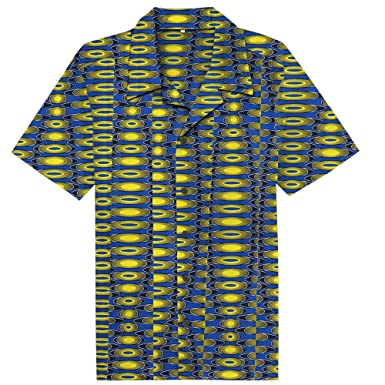 Candow Look Chemise Casual African Wax Oval Pattern Printed