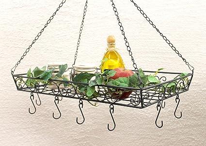 Pot Rack 83128 ollas y sartenes gancho 50 cm para colgar estante Rack Hanger: Amazon.es: Hogar