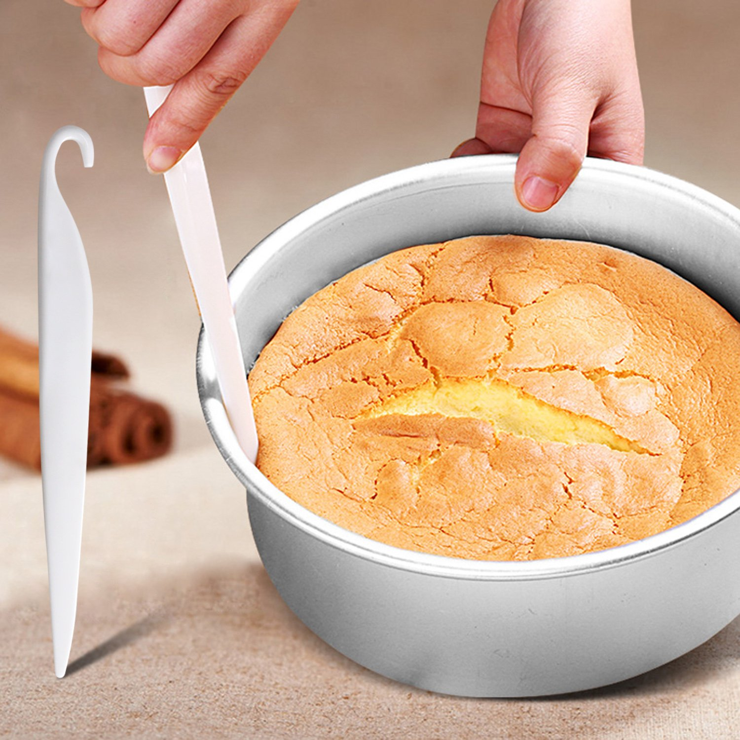 9 Inch Springform Cake Pans 24 Piping Nozzles Cake Stand 11 Inch Cake Turntable,2 Icing Spatula and 3 Icing Smoother,Pastry Bag,Cutter,Cheese Spatula Cake Decorating Kit