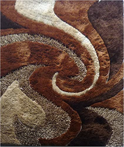 LA RUG Fantasy Shaggy Area Rug, Multi-Color