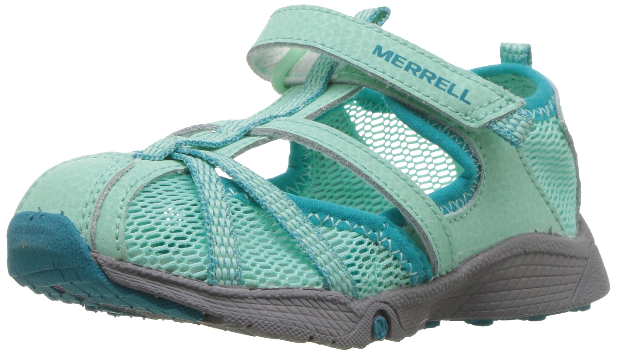 Merrell Hydro Monarch Water Sandal (Toddler/Little Kid/Big Kid), Turquoise, 6 W US Toddler