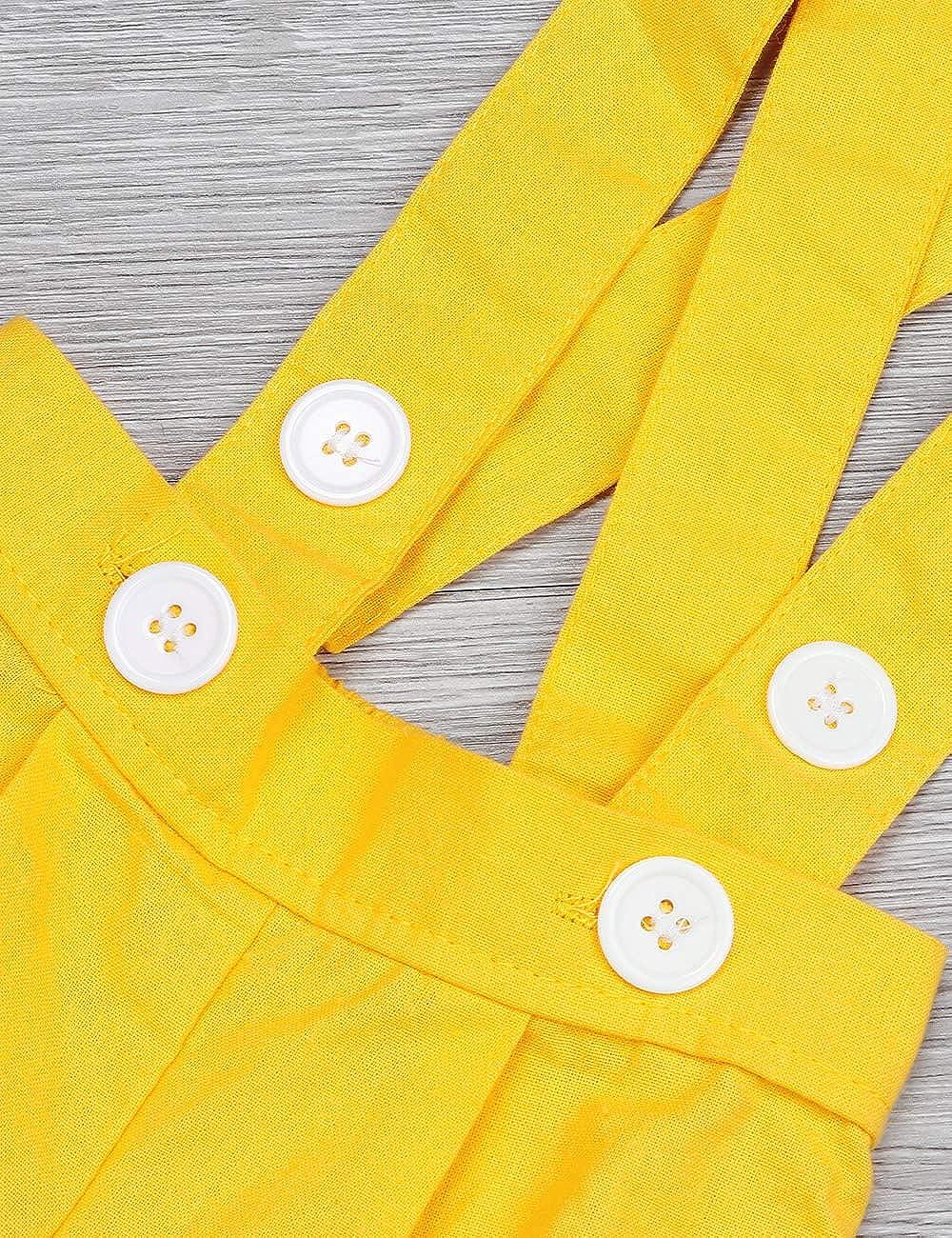 Toddler Baby Girl Clothes Ruffles Short Sleeve Bowknot Shirt+Overall Skirt with Headbands 3Pcs Outfits Set School Uniform