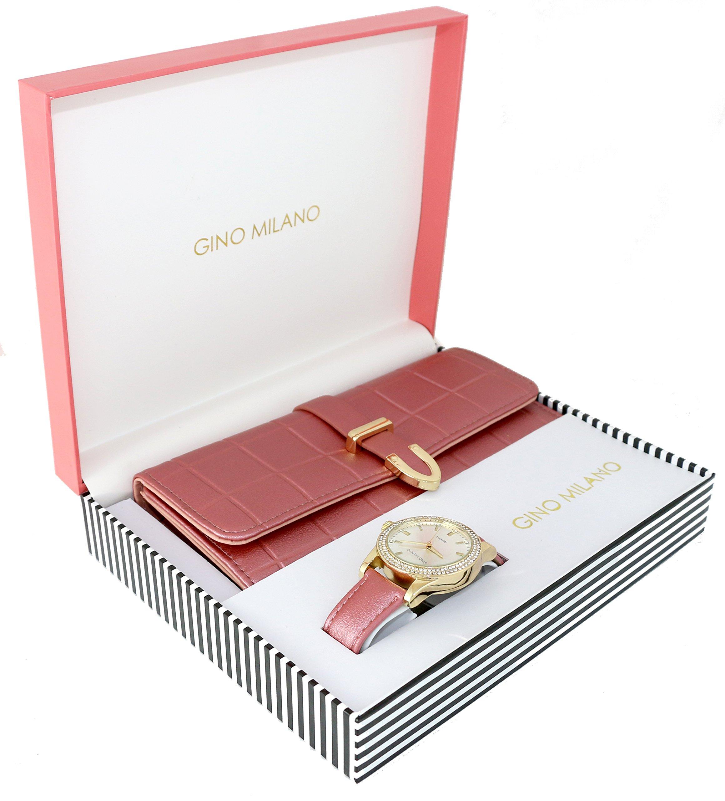 Women's Matching Watch & Wallet Gift Set - Blush
