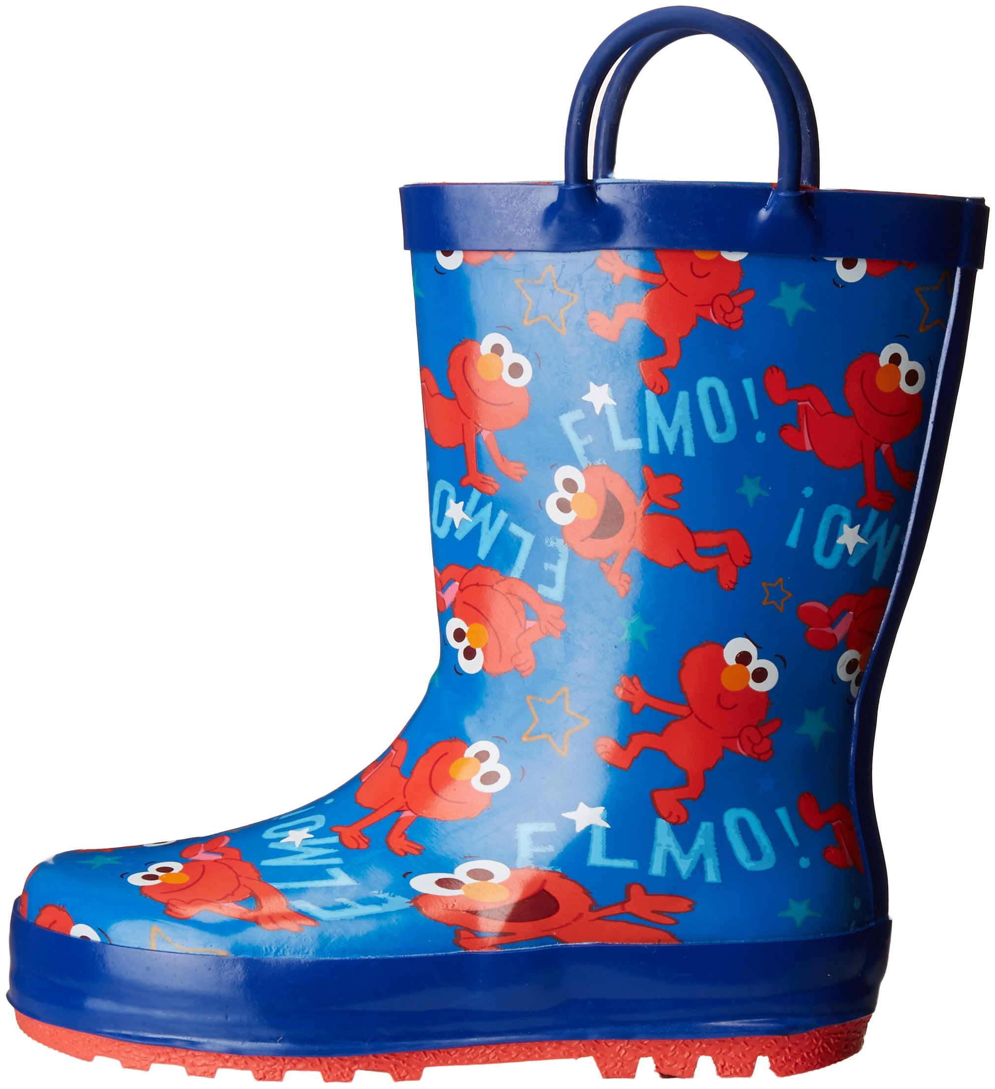 Sesame Street Boys' Kid's Character Licensed Rain Boot, Blue, Dual Shoe Size 7/8 Child US Toddler by Sesame Street (Image #5)