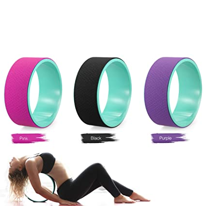 Fitness Yoga Stretch y anillo doble de ruedas Roller ...