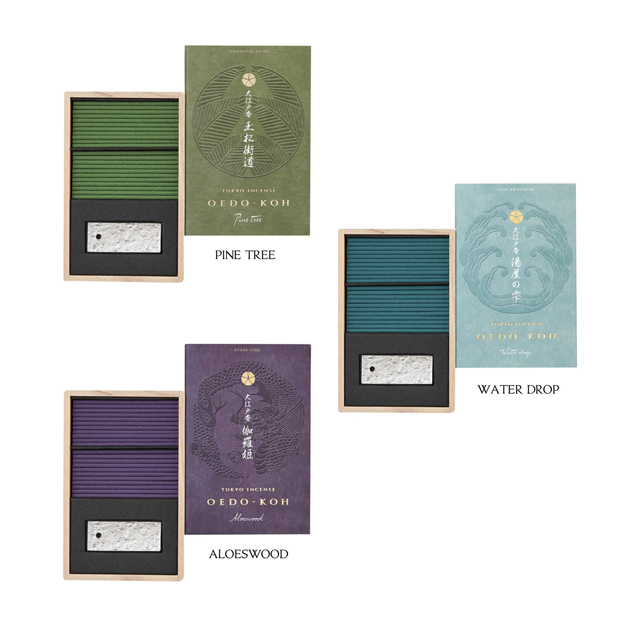 Nippon Kodo OEDO-KOH - Life in Edo Japan Luxury Collection (Water Drop, Pine Tree, Aloeswood) by iTakara (Image #1)