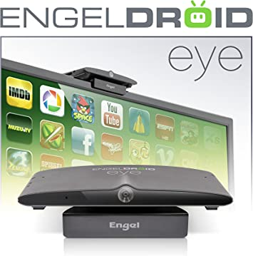 Engel EN1005 - Receptor Engledroid-Eye (Webcam HD 5 MP, microfono, Internet TV Streaming, comparte archivos con PC vía LAN) color negro: Amazon.es: Electrónica