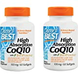 Doctors Best High Absorption Coq10 (100 mg), Softgel Capsules CVBEHP, 2Pack (60 Count)