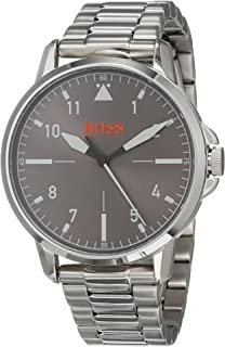 8acc71cfa30b Hugo Boss Orange Reloj Analógico para Hombre de Cuarzo con Correa en Acero  Inoxidable 1550064