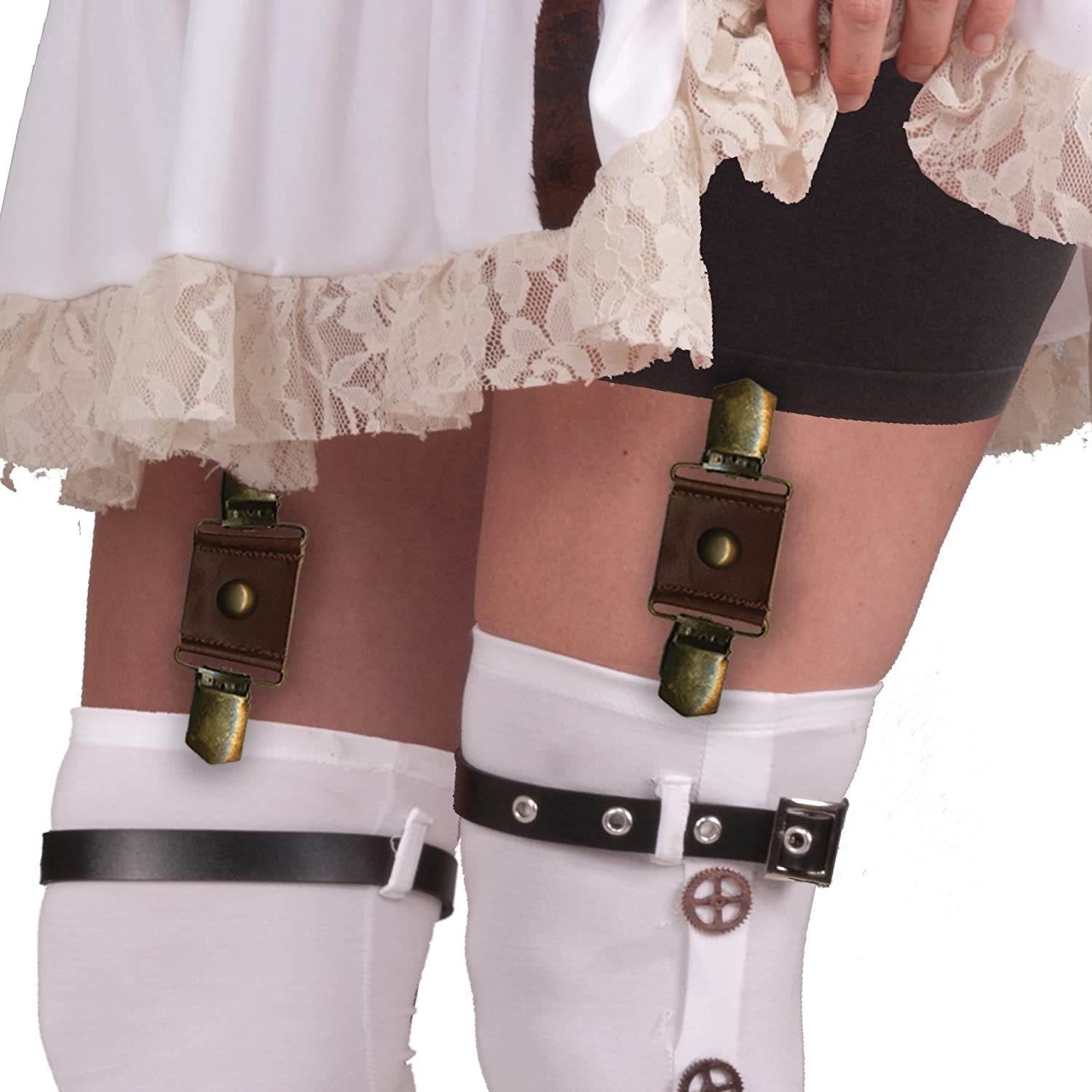 Steampunk Tights  & Socks Forum Novelties Womens Steampunk Garter Buckles $7.33 AT vintagedancer.com