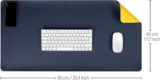 Mygadget Schreibtischunterlage 90 X 45 Cm Kunstleder Elektronik