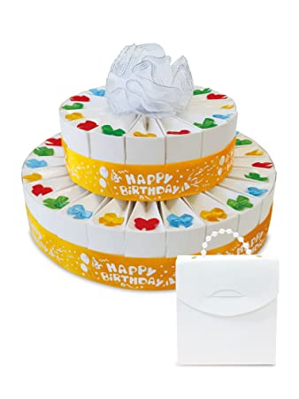 2 Tier Happy Birthday Favor Cake Kit Party Supplies