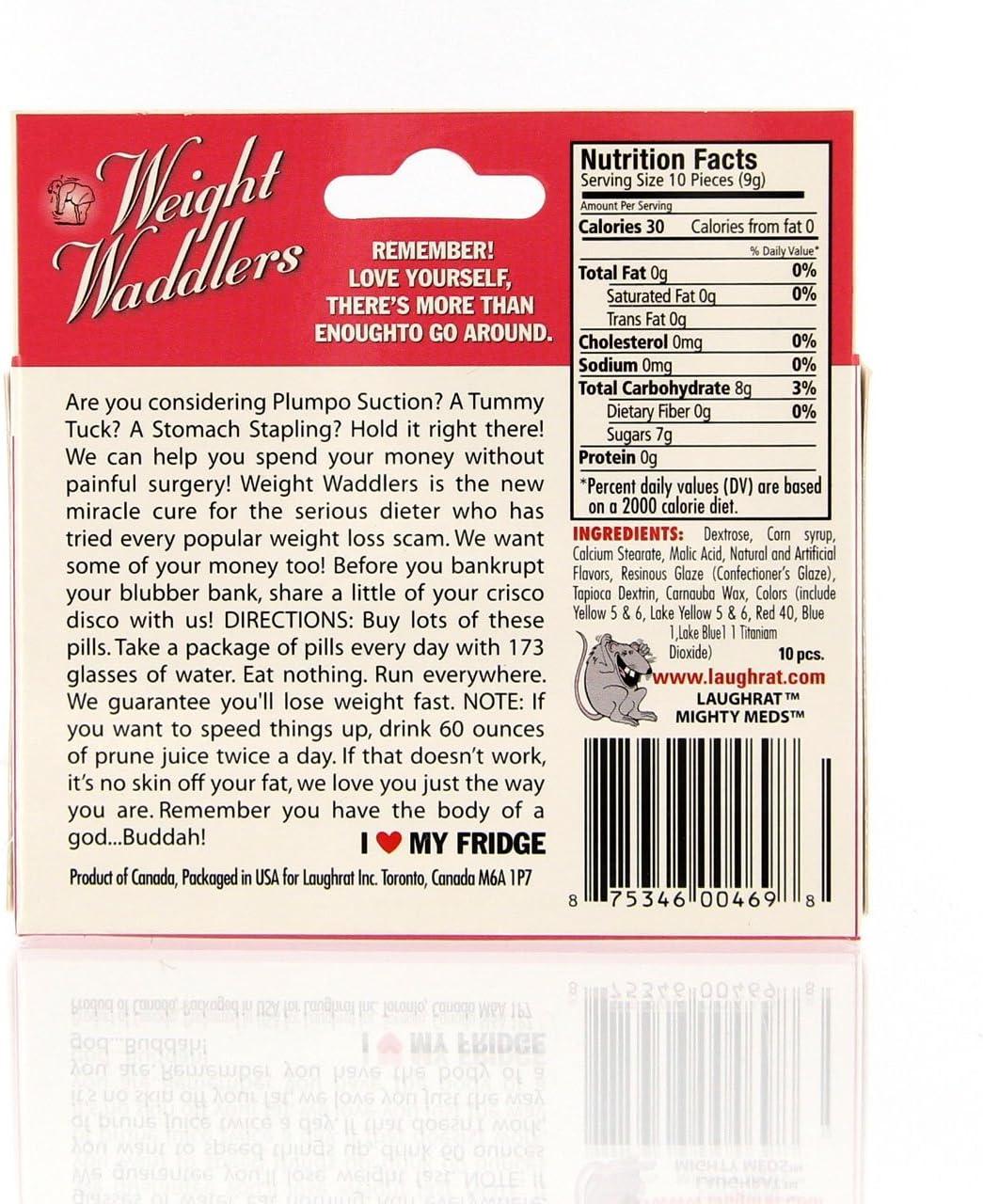 Forum Novelties 63676 Weight Waddlers Mighty Medication Pills Novelty Gag Gift
