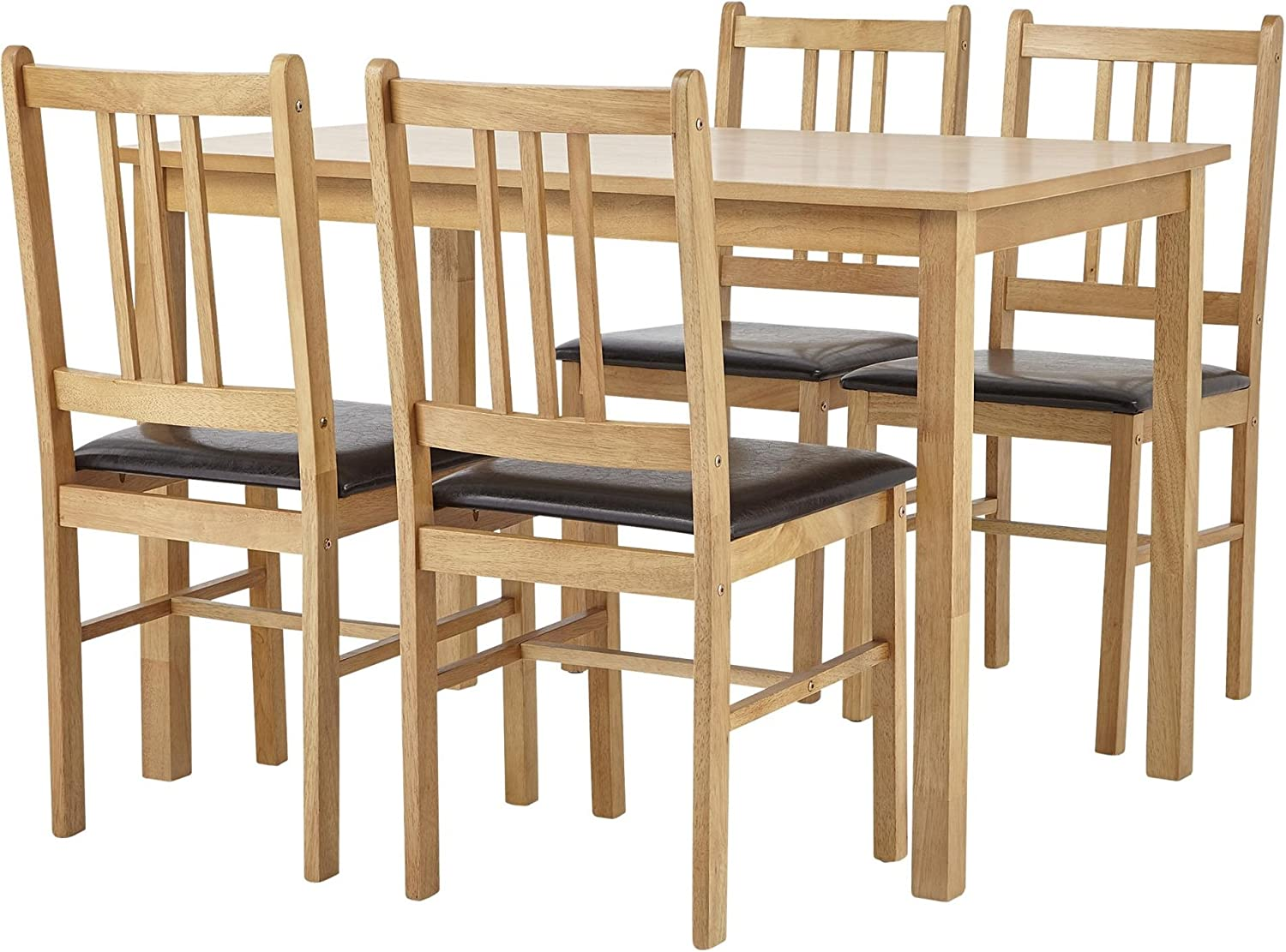 Tesco Cheltenham Oak Effect Dining Table with 11 Chocolate Faux Leather  Chairs A