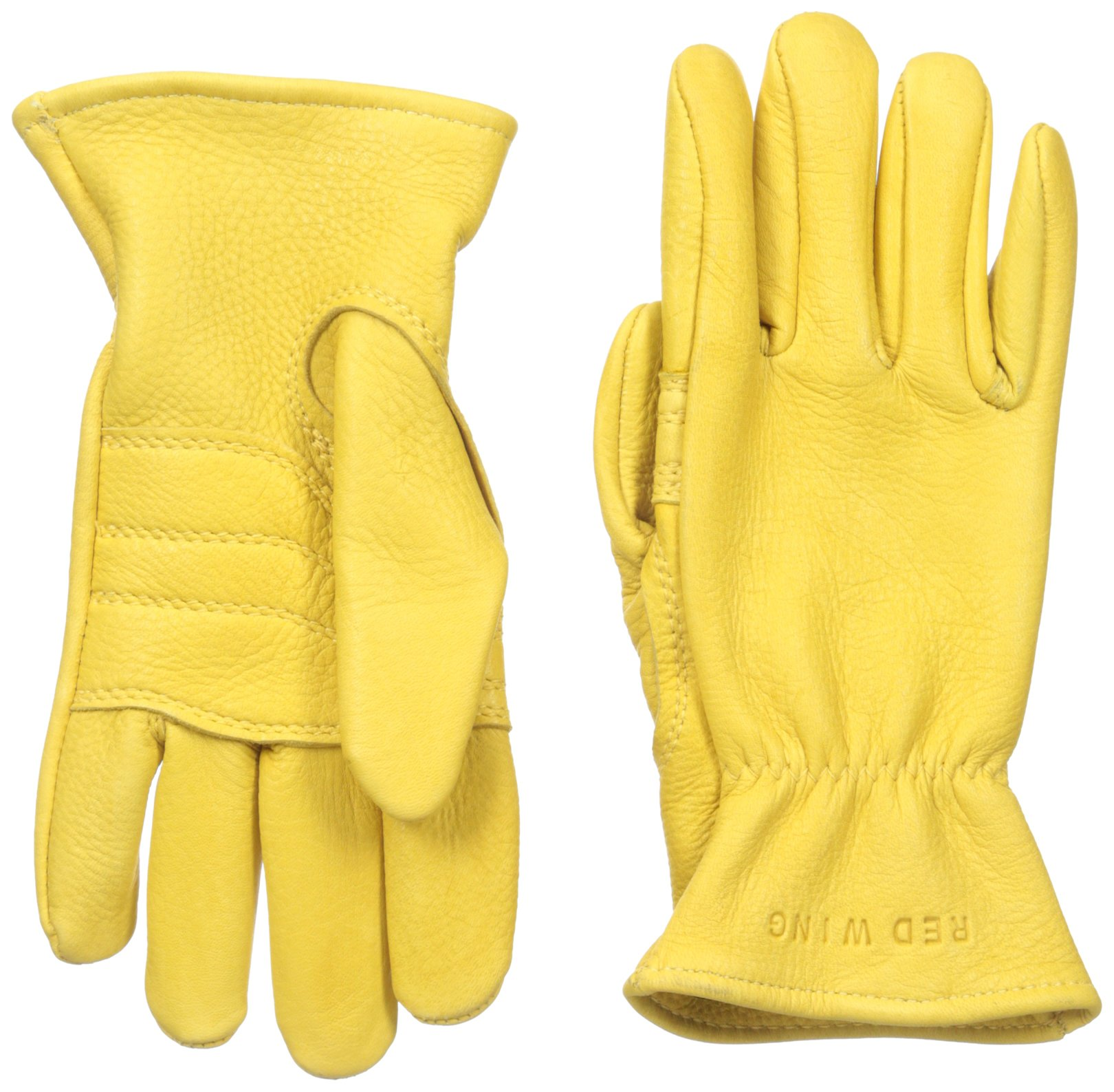 Red Wing Heritage Unlined Leather Gloves, Yellow Buckskin,
