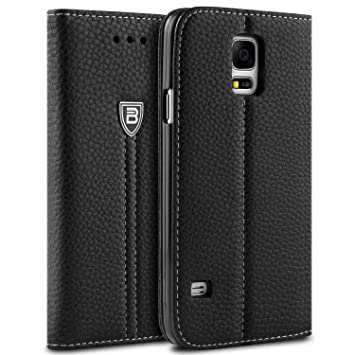 online store 2c8af d283a BEZ Case for Samsung S5 Phone Case, Wallet Flip Cover Compatible with  Samsung Galaxy S5 / S5 NEO Protective Faux Leather with a Credit Card  Holder, ...
