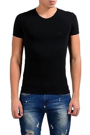 quality design b23c0 71dae Amazon.com: Versace Collection Men's Black Stretch V-Neck ...