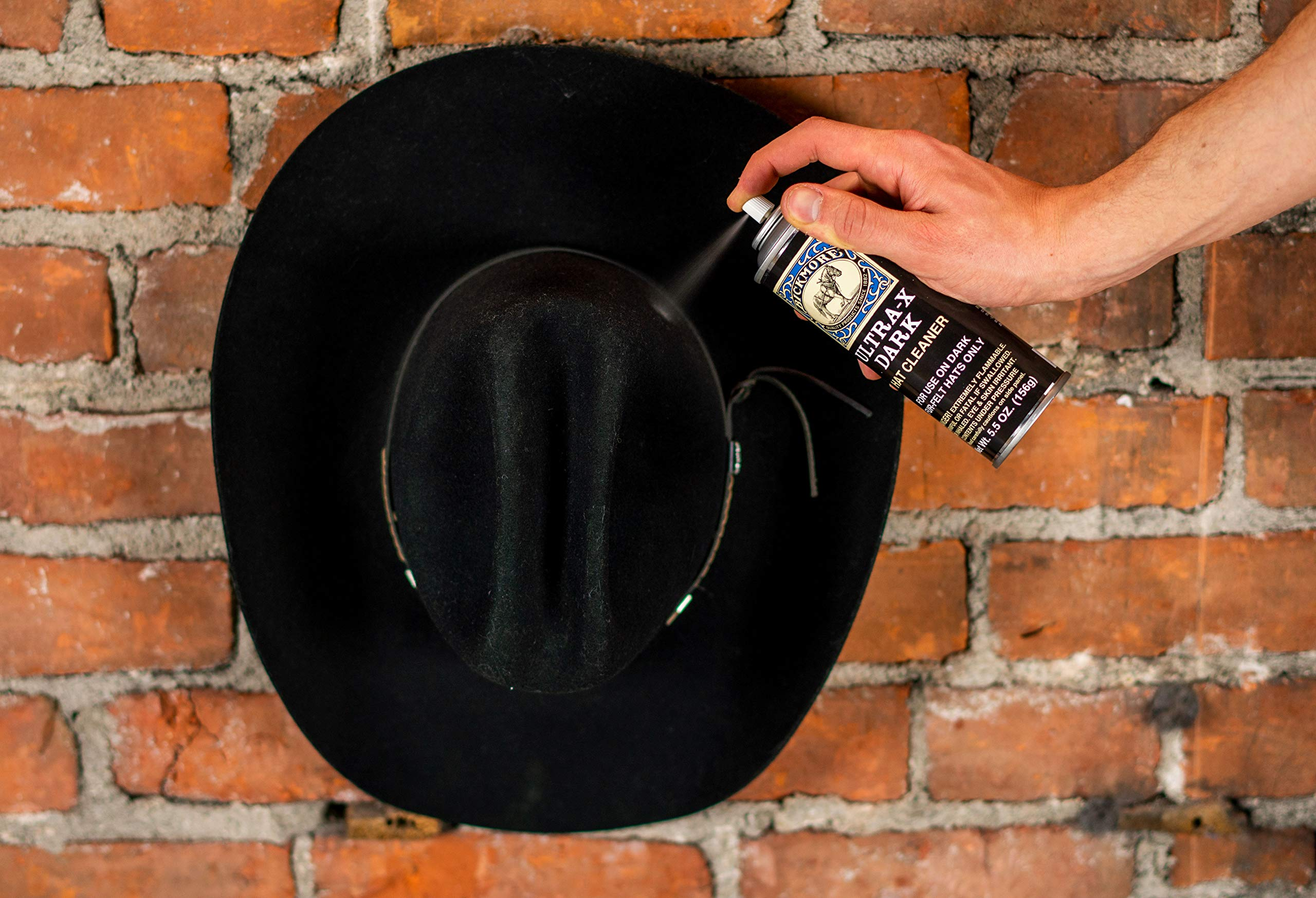 Bickmore Ultra-X Powdered Dark Hat Cleaner Kit - Remove Dirt, Dust, Fingerprints & Sweat Stains - Great for Fur - Felt Cowboy Hats, Baseball Hats, Fedoras, Sun Hats & More by Bickmore (Image #6)