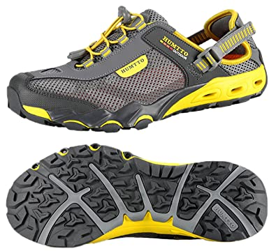 Mens Aqua Water Shoes Breathable Beach Upstream Hiking Outdoor Trekking Shoes Fins, Footwear & Gloves